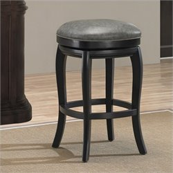 American Heritage Billiards Madrid Bar Stool in Charcoal and Black