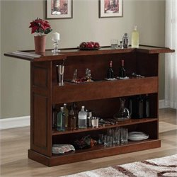 American Heritage Billiards Lexington Home Bar in Suede