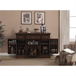 American Heritage Billiards Gabriella Home Bar in Cherry