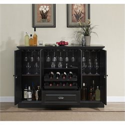 American Heritage Billiards Carlotta Home Bar in Antique Black