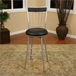 American Heritage Alliance Bar Stool in Silver