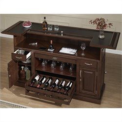 American Heritage Billiards Catania Home Bar in Cherry