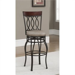 American Heritage Billiards Bella Bar Stool in Aged Sienna and Camel