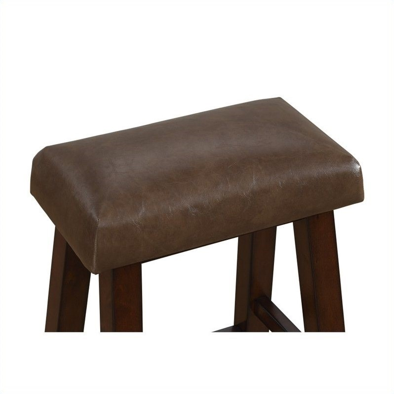 American Heritage Billiards Saddle 30 Quot Bar Stool In Sepia