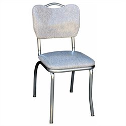 Richardson Seating Retro 1950s Dining Chair in Cracked Ice Grey