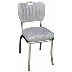 Richardson Seating Retro 1950s Handle Back Retro Kitchen Dining Chair in Cracked Ice Grey