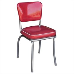 Richardson Seating Retro 1950s Diner  Dining Chair in Glitter Sparkle Red