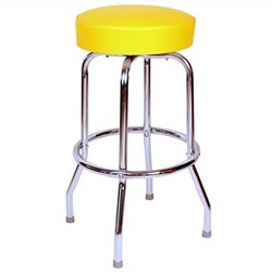 Richardson Seating Retro 1950s Swivel Bar Stool in Yellow