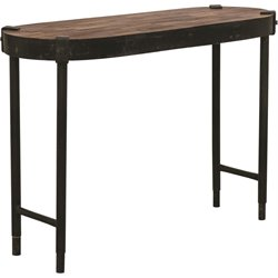 Renwil Seewald Console Table in Rusted Metal and Weathered Wood