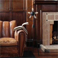 Renwil Crowe 5 Light Floor Lamp in Copper and Black