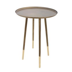 Renwil Pawn Accent Table in Antique Brass