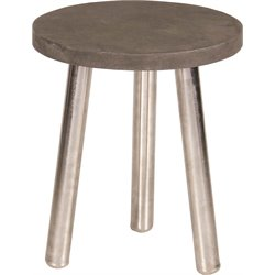 Renwil Tier Accent Table in Natural and Brushed Silver