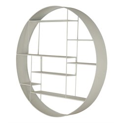 Renwil Temple Round Wall Shelf in Iron