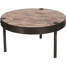 Renwil Portland Coffee Table in Brown and Black