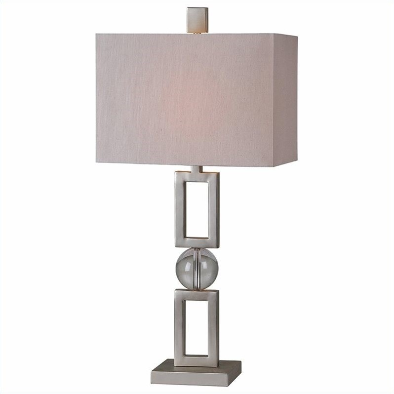 Renwil Davos Table Lamp in Silver Plating