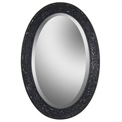 Renwil Harmony Oval Mirror in Black