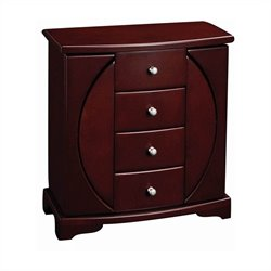 Mele and Co. Simone Upright Jewelry Box in Mahogany