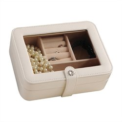 Mele and Co. Rio Jewelry Box in Ivory