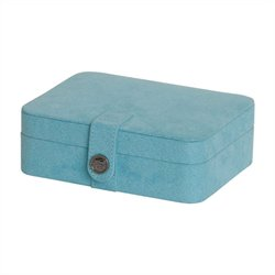 Mele and Co. Giana Jewelry Box with Lift Out Tray in Aqua