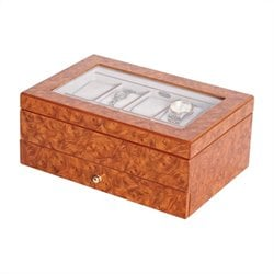 Mele and Co. Peyton Watch Box in Oak