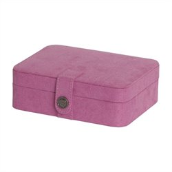 Mele and Co. Giana Jewelry Box with Lift Out Tray in Pink