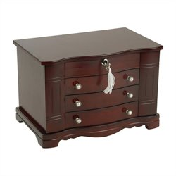 Mele and Co. Rita Jewelry Box in Mahogany