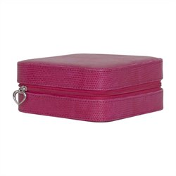 Mele and Co. Josette Travel Jewelry Case in Magenta