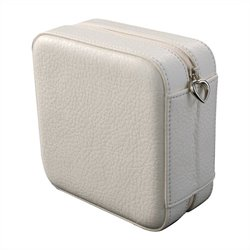 Mele Co. Dana Faux Leather Jewelry Box in Ivory