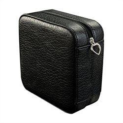 Mele and Co. Dana Square Jewelry Box in Black