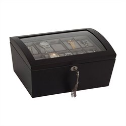 Mele and Co. Royce Watch Box with Lock in Java