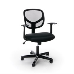 Essentials Swivel Mesh Office Chair in Black