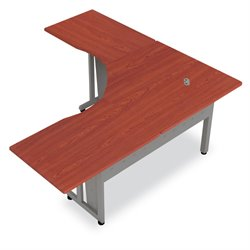 L Shaped Workstation in Cherry