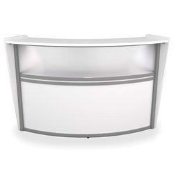 Marque Series Plexi Reception Desk in White