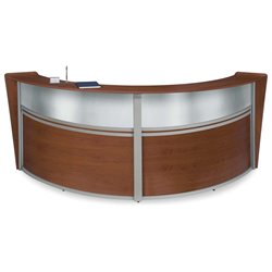 Marque Series Plexi Reception Desk in Cherry