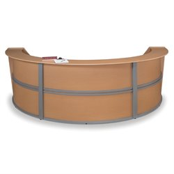 Marque Series Curved Reception Desk in Maple