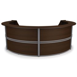 Marque Series Curved Reception Desk in Walnut