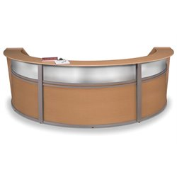 Marque Series Plexi Reception Desk in Maple