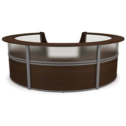 Marque Series Plexi Reception Desk in Walnut
