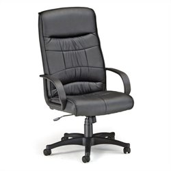 Encore Leatherette High-Back Executive Office Chair in Black