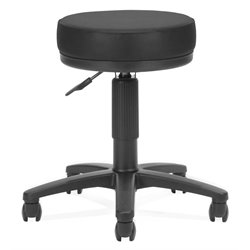 OFM Utility Stool in Black Vinyl