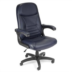 Navy Leather Executive Office Chair
