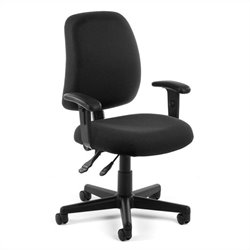 Posture Task Office Chair With Arms in Black