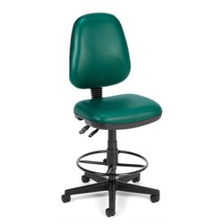 Drafting Office Arm Chair in Teal Vinyl