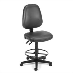 Drafting Office Arm Chair in Charcoal