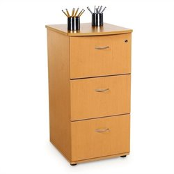 Three-Drawer File With Lock in Maple