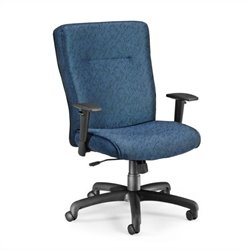 Executive Conference Office Chair with Adjustable Arms in Blue