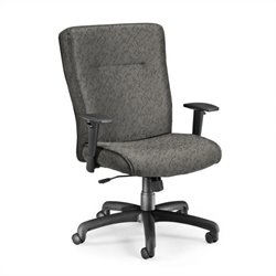 Executive Conference Office Chair with Adjustable Arms in Charcoal