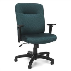 Executive Conference Office Chair with Adjustable Arms in Teal