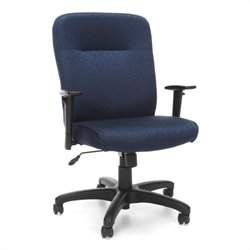 Executive Conference Office Chair with Adjustable Arms in Navy