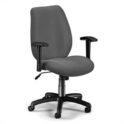 Ergonomic Manager's Office Chair with Adjustable Arms in Graphite